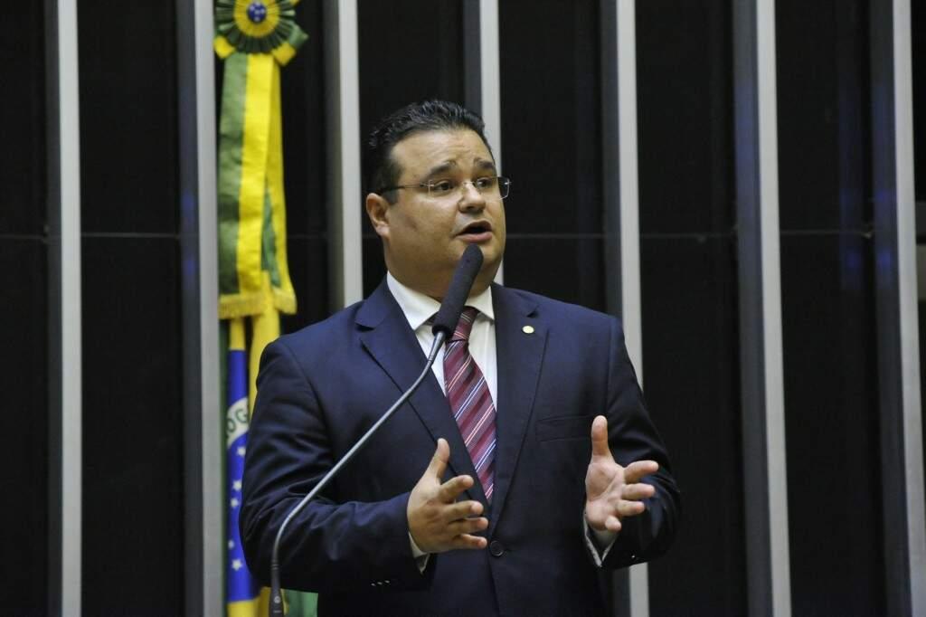 Deputado Fábio Trad usou a tribuna para cobrar investimentos no Sisfron (Foto: Divulgação)
