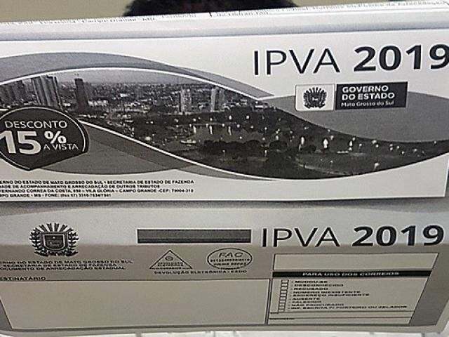 Governo de MS emitiu 1,5 milhão de boletos do IPVA (Foto: Reprodução)