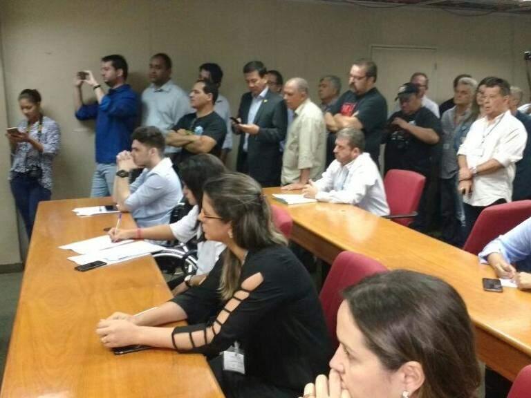 Plateia que acompanhou a votação (Foto: Leonardo Rocha)