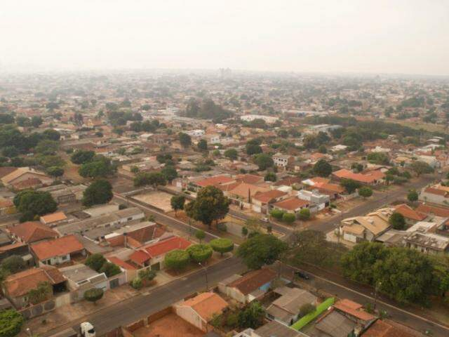 O bairro Jacy visto de cima (Foto: Gabriel Rodrigues)
