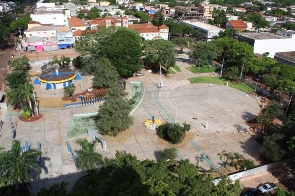 Vista da cidade de Antonio João na fronteira de Mato Grosso do Sul com o Paraguai