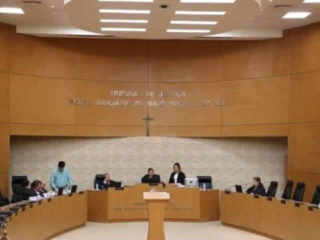 Desembargadores durante sessão da 1ª Câmara Criminal mantiveram condenação  (Foto/Divulgação: TJ)