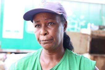 Gilda Macedo, presidente da Atmaras-MS (Associação dos Trabalhadores de Materiais Recicláveis de MS). (Foto: Kísie Ainoã)