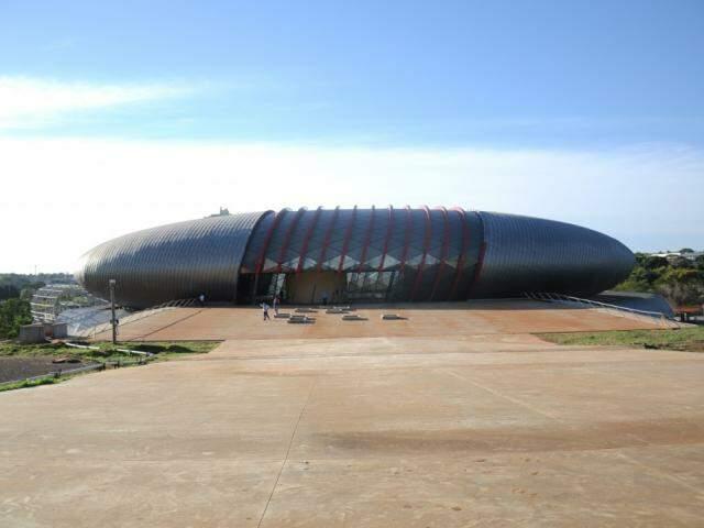 Obras do Aquário do Pantanal ainda não foram finalizadas (Foto: Paulo Francis)