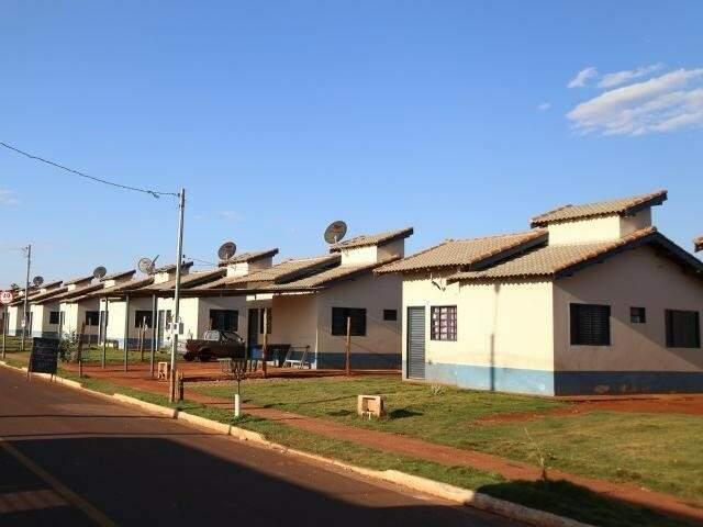 Residencial popular em Campo Grande (Foto: Fernando Antunes/Arquivo)
