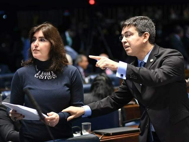 Senadora Simone Tebet (MDB-MS), se manifestou pela aprovação do projeto do senador Randolfe Rodrigues (Rede-AP). (Foto: Jefferson Rudy/Agência Senado)