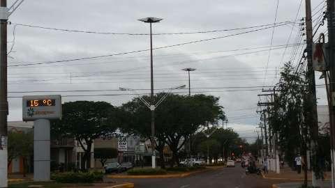 Frio chegou ao Sul de MS com chuva, tempo nublado e mínima de 8ºC