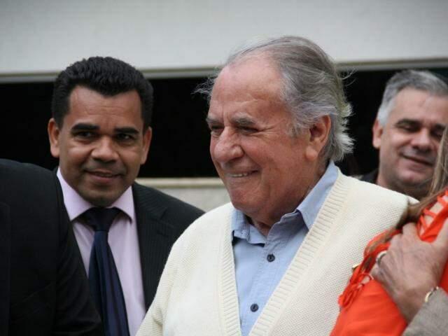 Juvêncio durante homenagem no aniversário de Campo Grande há três anos. (Foto: Marcos Ermínio/Arquivo).