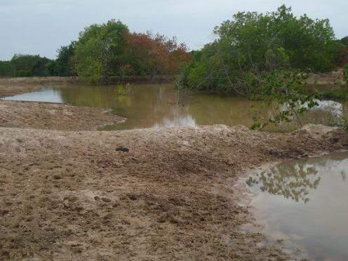 Represar irregularmente nascente de rios é crime ambiental. (Foto: Divulgação PMA)