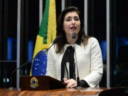 Simone Tebet diz que pedirá votos ao Senado só após conversa com Renan