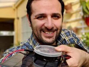 Iberê ensinou a fazer carregador portátil solar (Foto/Divulgação)