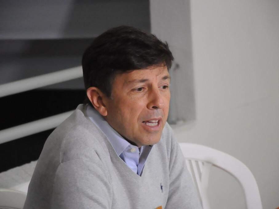 João Amoêdo durante coletiva na Capital. (Foto: Paulo Francis/Arquivo).