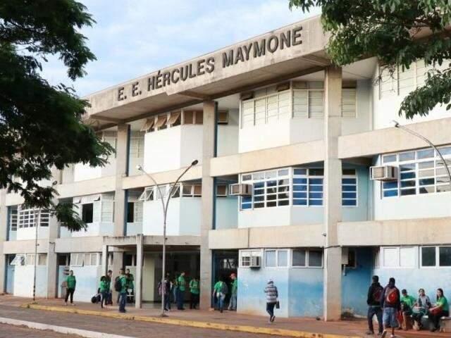 Escola Estadual  Hércules Maymone, em Campo Grande (Foto: Henrique Kawaminami - Arquivo)