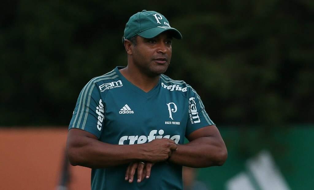Técnico Roger Machado comanda o último treino do Palmeiras (Foto: Cesar Greco/Ag Palmeiras/Divulgação)