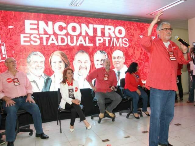 Convenção do PT ocorreu nesta manhã, na sede da Fetems (Foto: Saul Schramm)