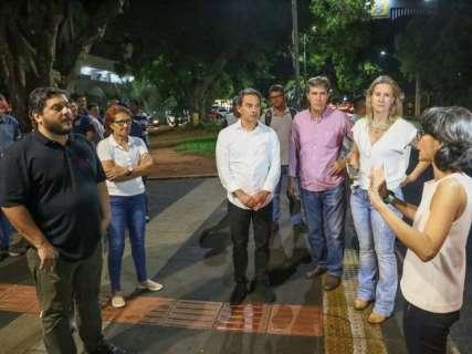 Prefeito retorna ao Centro para vistoriar obras e planejar inauguração do Reviva