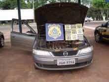 A Hilux de Brasília placas JJH 1866 estava adulterada sendo a verdadeira JID 3379 (Foto: Divulgação)