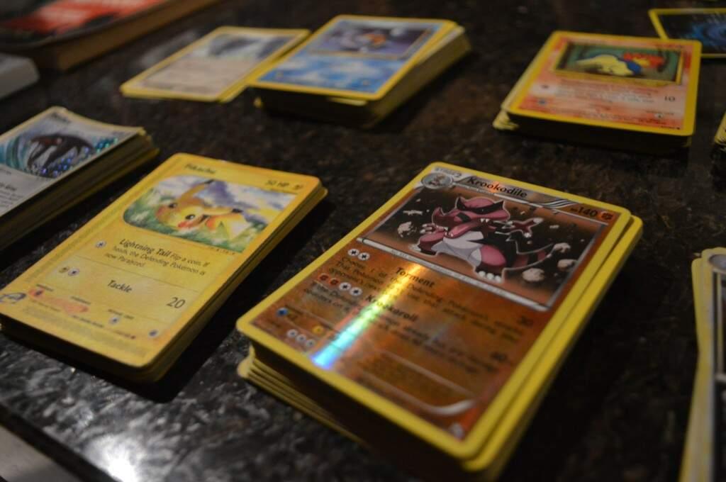 Cartas para jogo Pokemon. (Foto: Thaís Pimenta)