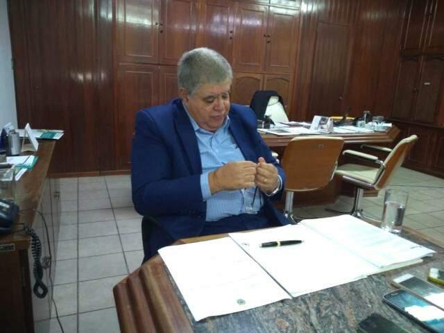 Ministro Carlos Marun (MDB), durante reunião na sede do Dnit (Foto: Leonardo Rocha)