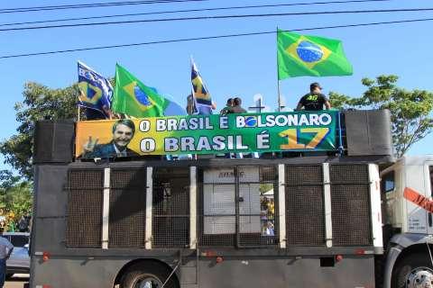 Concentração de ato a favor de Bolsonaro toma Afonso Pena