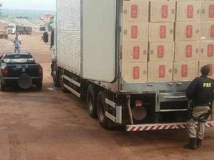 Carga com mais de 1 milhão de cigarros do Paraguai é apreendida pela BR-163