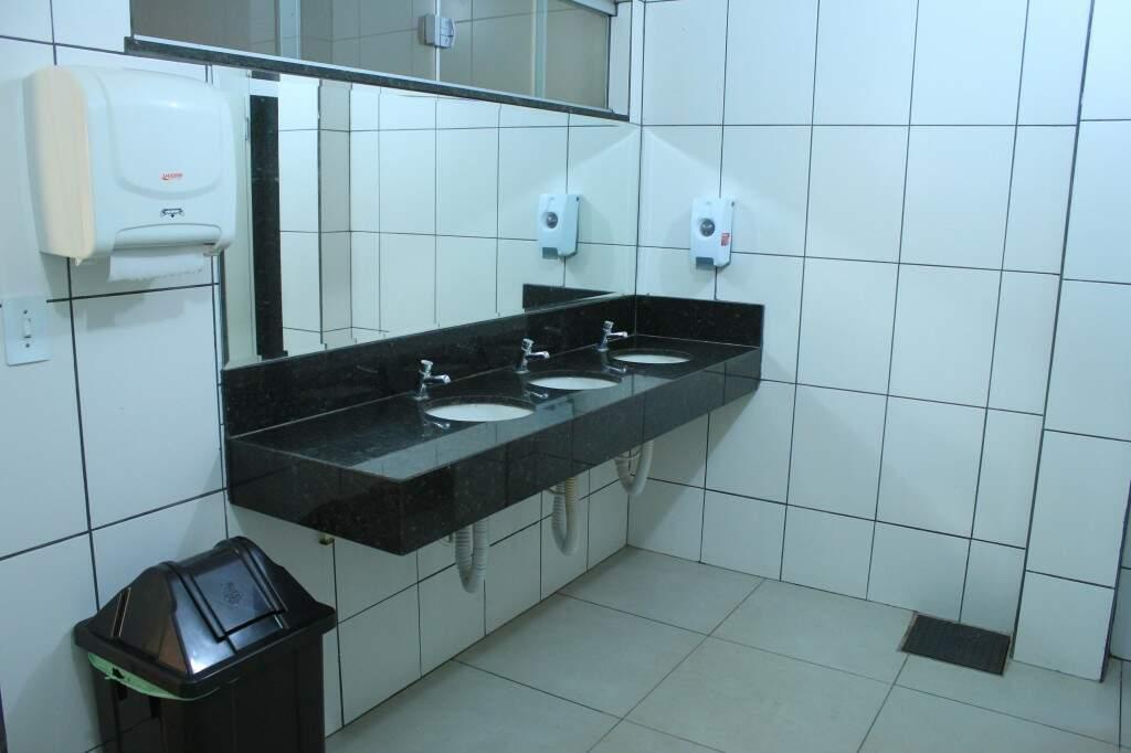 Sanitários são super limpos. (Foto: Marina Pacheco)