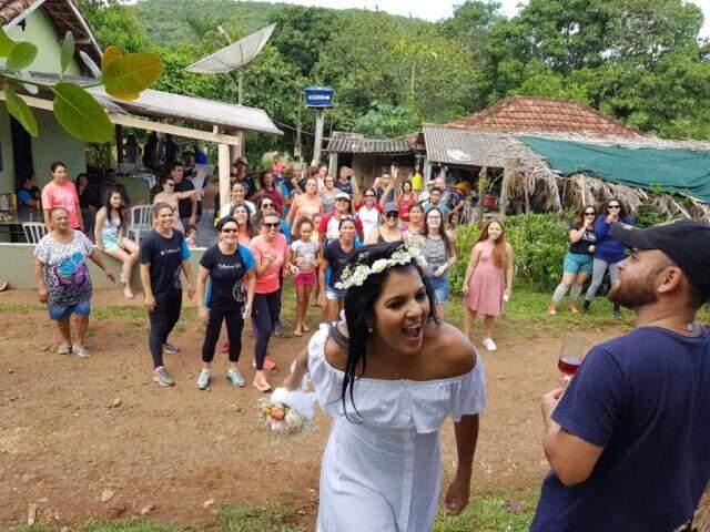 Casamento foi organizado em uma semana (Foto: Elza Solange/arquivo pessoal)