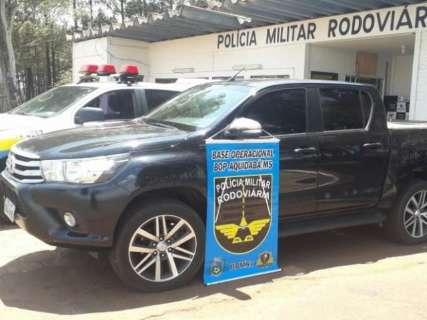Camionete roubada em sequestro é recuperada a caminho da fronteira