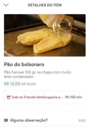 Pão Bolsonaro.
