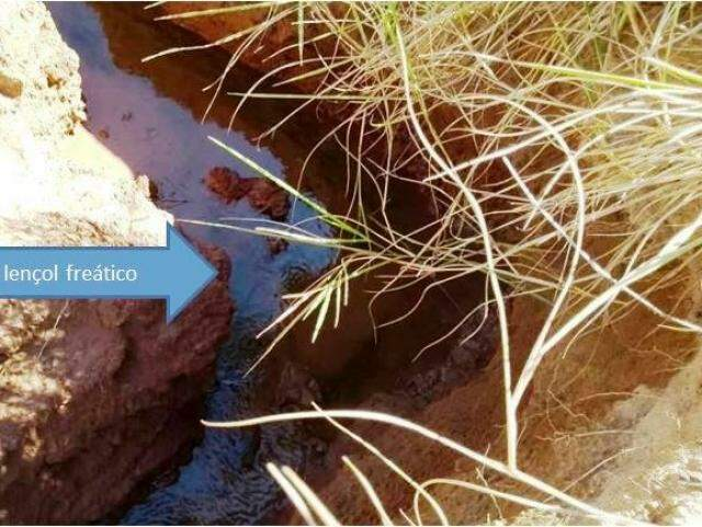 Processo erosivo surgiu devido à remoção da vegetação. (Foto: Divulgação)