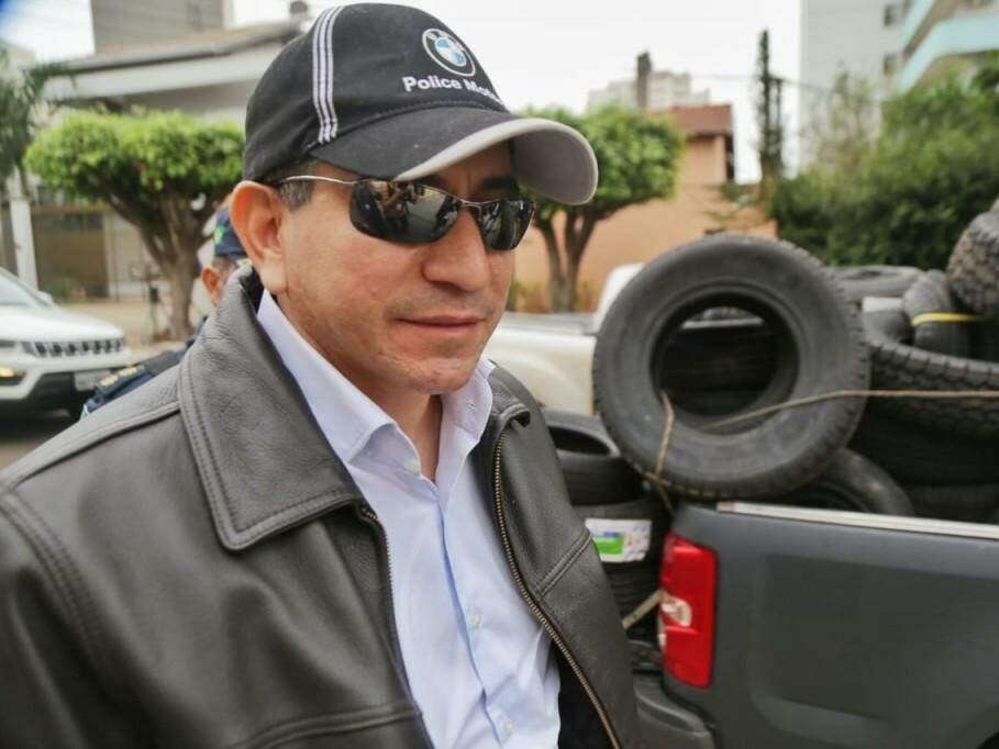 Tenente-coronel Admilson Cristaldo se apresentou à Corregedoria da Polícia Militar nesta quarta-feira (Foto: Fernando Antunes)