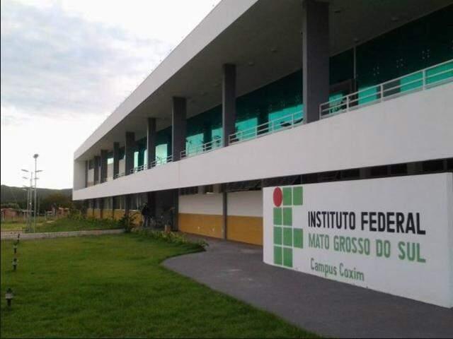 Fachada do instituto em Coxim (Foto: Divulgação)
