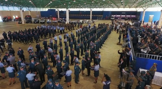 Evento aconteceu nesta manhã, no Centro de Eventos Albano Franco (Foto: Polícia Militar)