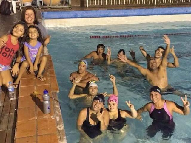 Nadadores do Rádio Clube/ADD na piscina do Rádio Clube. (Foto: Divulgação/Rádio Clube)