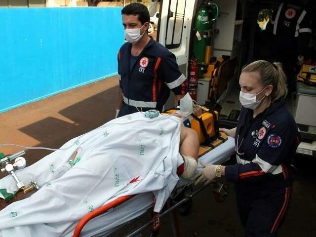 Falta de ambulância reserva prejudica trabalho do Samu em Dourados (Foto: Adilson Domingos)