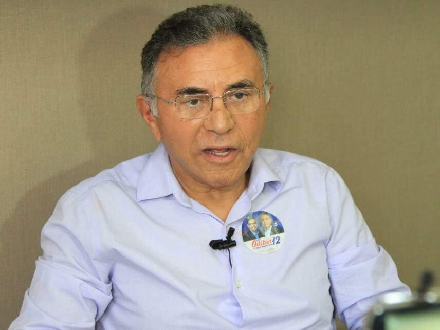 Odilon de Oliveira, do PDT, concede entrevista ao Campo Grande News. (Foto: Marina Pacheco/Arquivo).