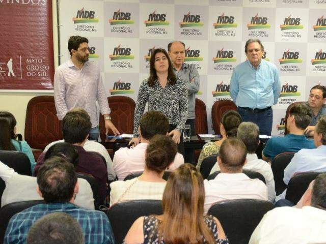 MDB fechou questão em torno de Simone Tebet em reuniões na sexta. (Foto: Fernando Antunes)