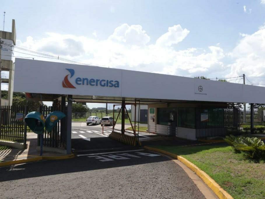 Entrada da Energisa, na saída para São Paulo, em Campo Grande. (Foto: Kísie Ainoã/Arquivo).