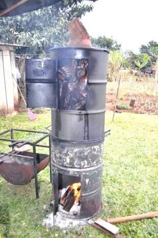 Invento de Marcelo para um churrasco diferente.