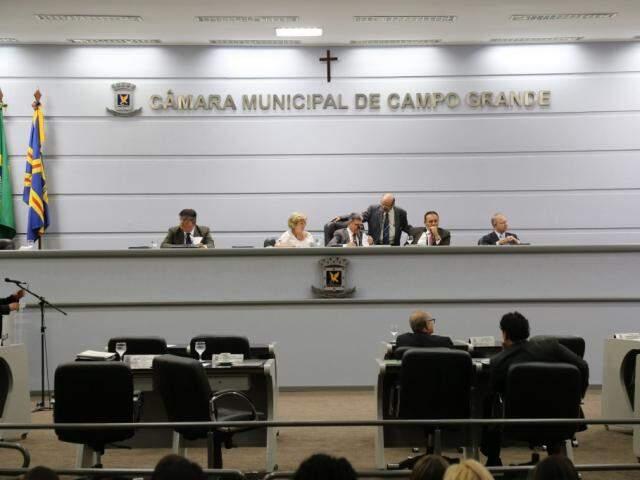 Sessão na Câmara Municipal de Campo Grande. (Foto: Marcos Ermínio/Arquivo).