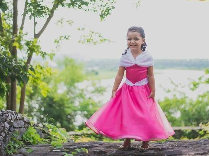 Aurora, de Malévola, ficou a coisa mais fofa e encantada pelas mãos de Marília Ferreira. (Foto: Acervo Pessoal)