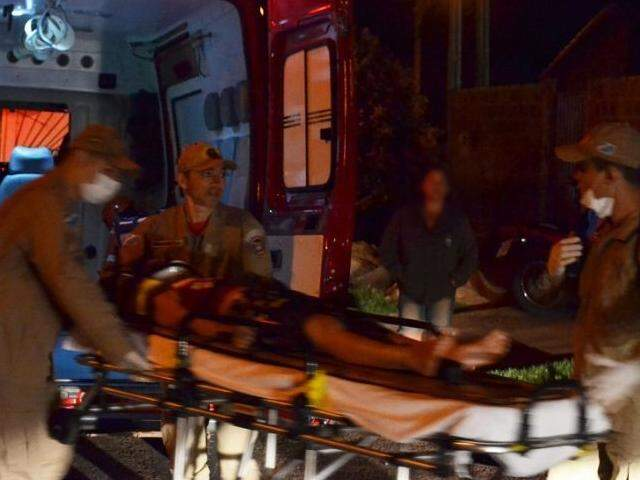Criança de 7 anos foi socorrida pelo Corpo de Bombeiros. (Foto: Jornal da Nova)
