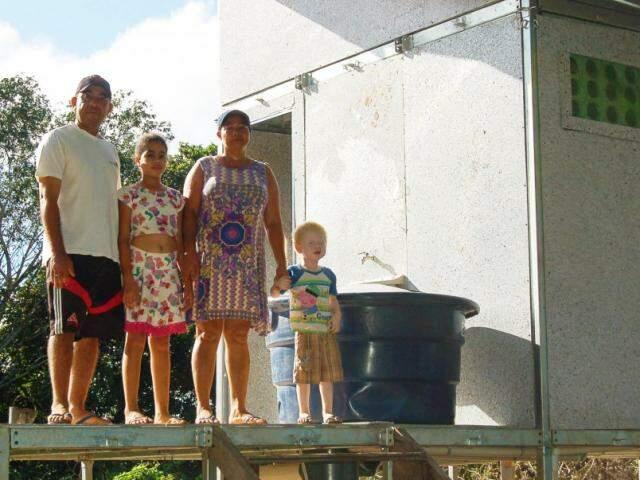 Com verbas recebidas pela ONG por meio de parcerias, quatro famílias já foram beneficiadas (Foto: André Siqueira)