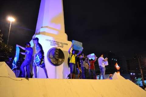 Confira fotos do protesto em Campo Grande