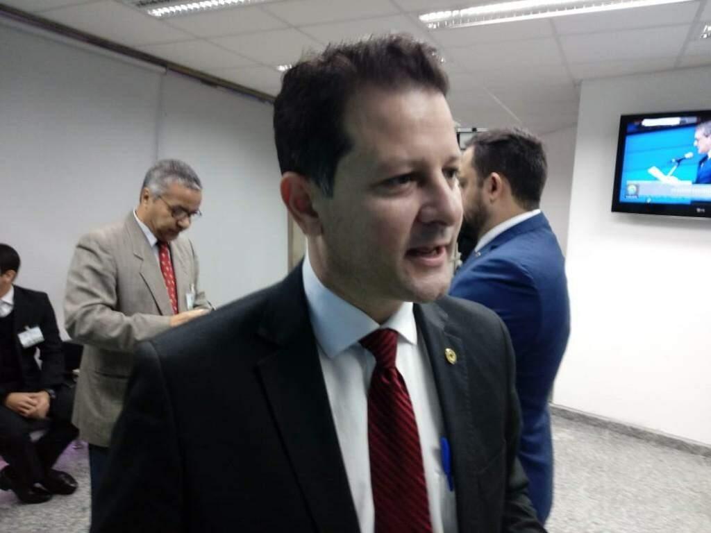 Deputado estadual Renato Câmara em entrevista (Foto: Leonardo Rocha)