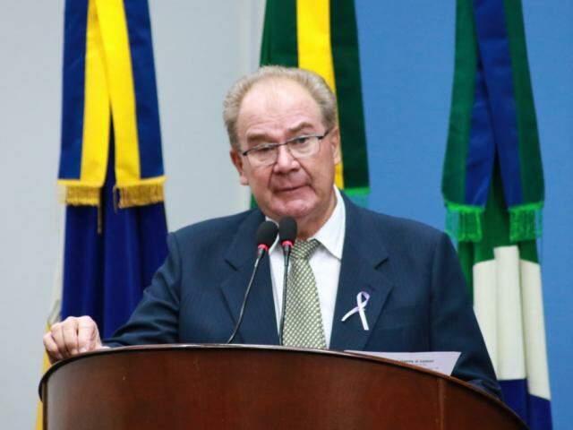Vereador Idenor Machado durante sessão da Câmara, antes de ser afastado, em dezembro (Foto: Divulgação)