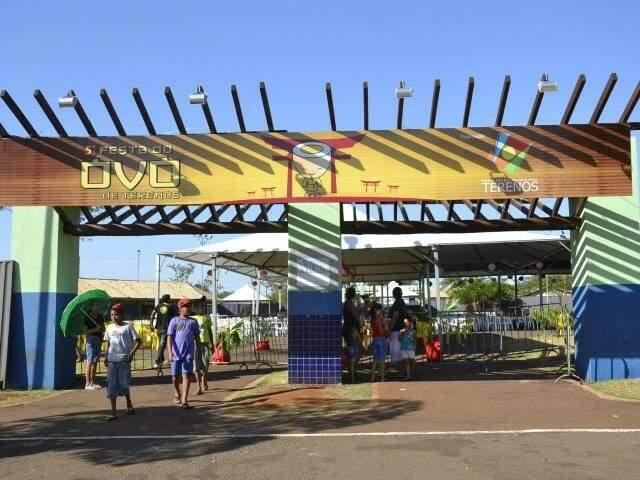 Entrada do evento ocorrido em 2012, em Terenos. (Foto: Arquivo/Simão Nogueira)