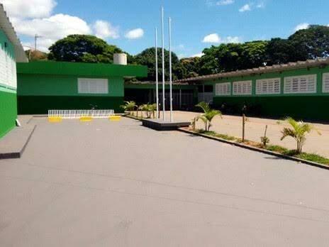 Escola reformada por detentos no bairro Coopavila II, segunda maior da Capital (Foto: Reprodução/TJMS)