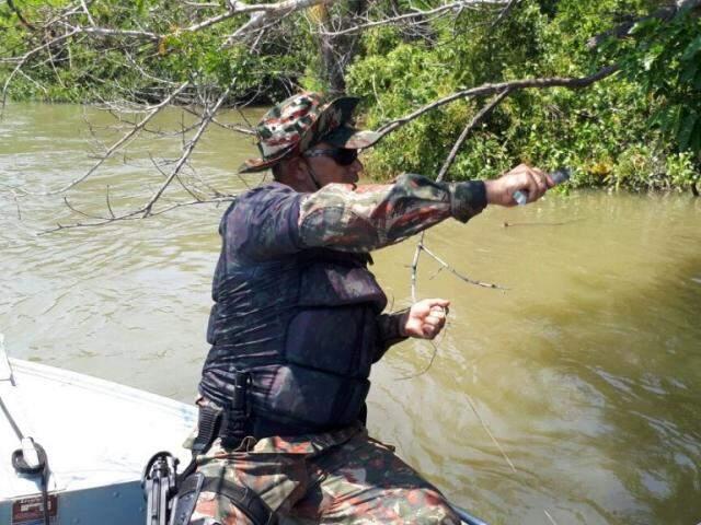 Policiais militares ambientais atuarão no combate a pesca predatória (Foto: Divulgação/ PMA)