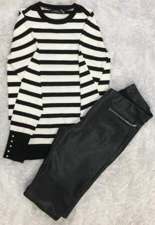 No inverno, look ideal preto e branco. (foto: Paulo Francis)